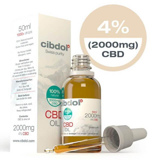 Cibdol CBD Olie 50ml 4% CBD