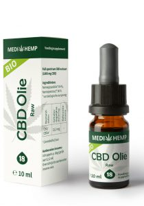 cbd oil 18 10ml medihemp raw