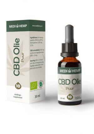 Biologische CBD Olie 10% 30ml (Medihemp)