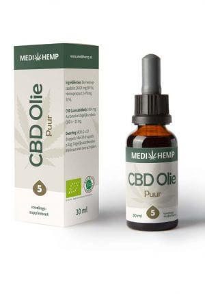 Biologische CBD Olie 5% 30ml (Medihemp)