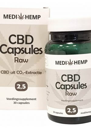 CBD Capsules 2,5% (Medhemp) Raw