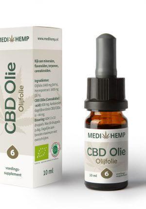 CBD Olie 6% 10ml (Medihemp) olijfolie