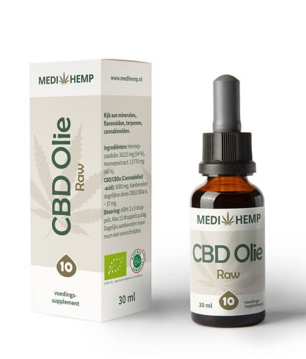 CBD Olie 10% 30ml (Medihemp) Raw