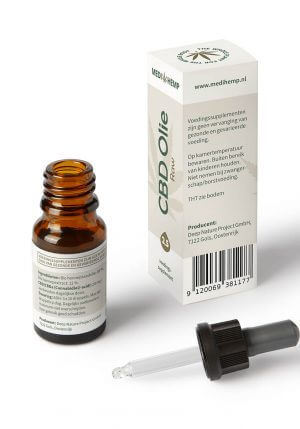 CBD Olie 2,5% 10ml (Medihemp) Raw