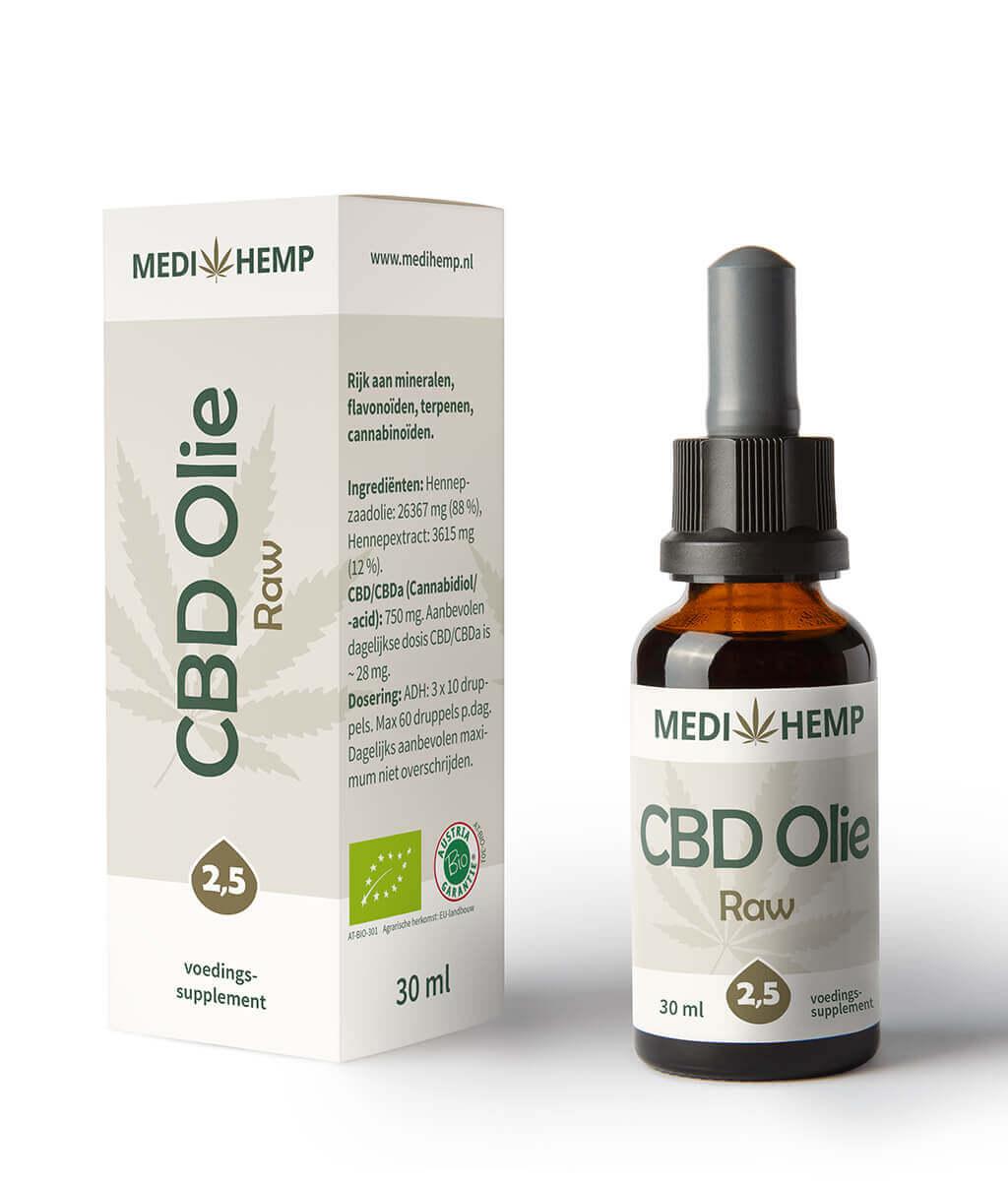 CBD Olie 2,5% 30ml (Medihemp) Raw