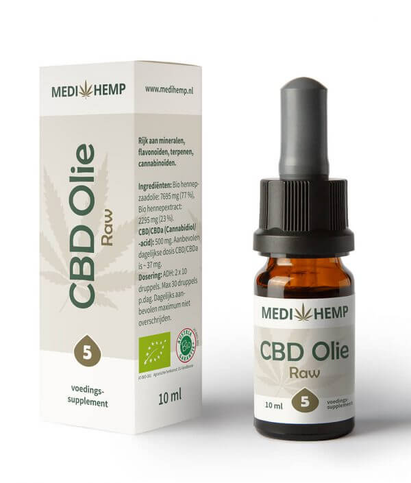 CBD Olie 5% 10ml (Medihemp) Raw
